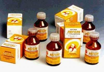 Раствор Люголя с глицерином  применяется более 150 лет