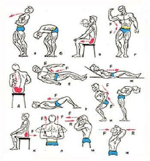 Упражнение на спину для мужчин при остеохондрозе